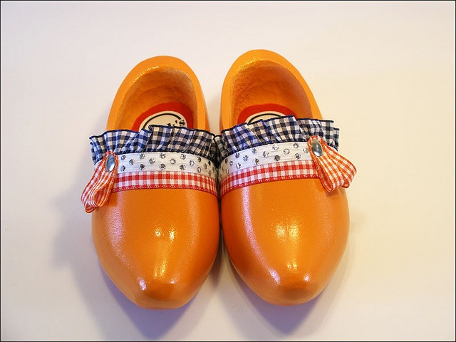 Oranje klompjes