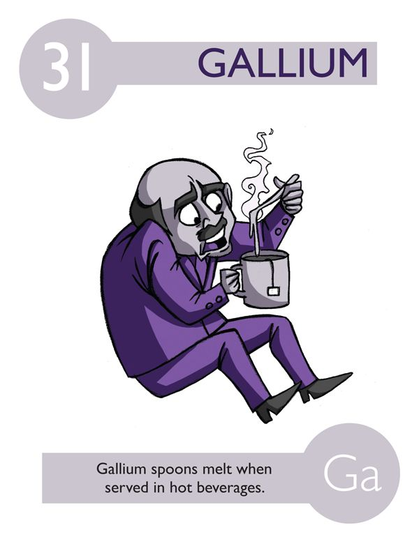 170 best jokes lol images on pinterest periodic table chemistry 112 cartoon elements make learning the periodic table fun gallium urtaz Choice Image