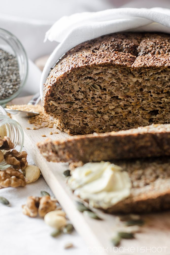veganes low carb Brot/ vegan low carb bread