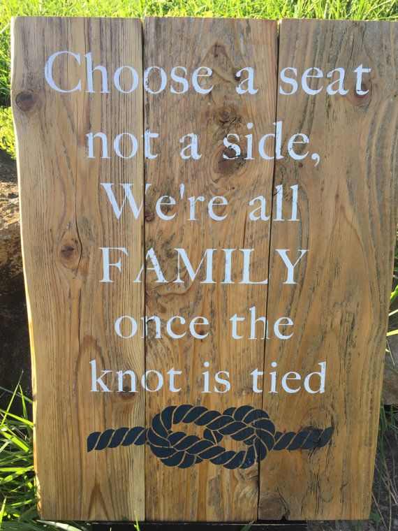 Take a seat Wedding Sign Rustic Wedding by OakledgeInspdDesigns