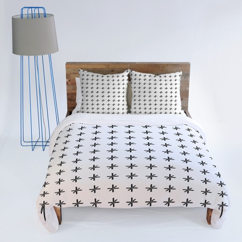 Wesley Bird Cross Out White Duvet Cover $229.00
