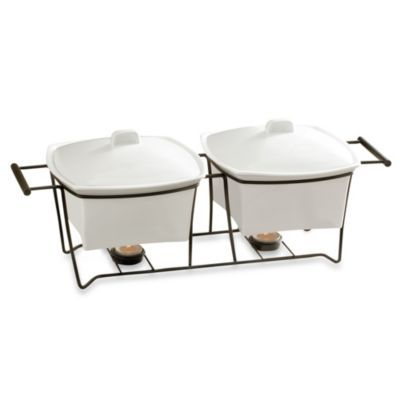 B. Smith 1.5-Quart Double Buffet Warmer with Stand - BedBathandBeyond.com - 19.9 on Clearance