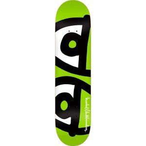 Krooked Skateboards <br> Krooked Team Maximeyes Deck <br> Large Lime Green 8.25x32