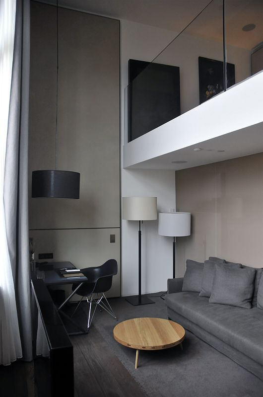 Modern grey-white-black interior
