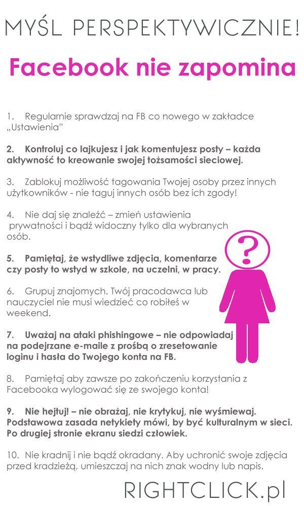 Rightclick.pl - 10 prostych zasad mądrego korzystania z FB