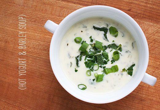 Lottie + Doof: yogurt & barley soup, sounds odd, they say delicious