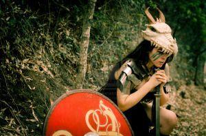 Barbarian dragon medieval costume by karollhell