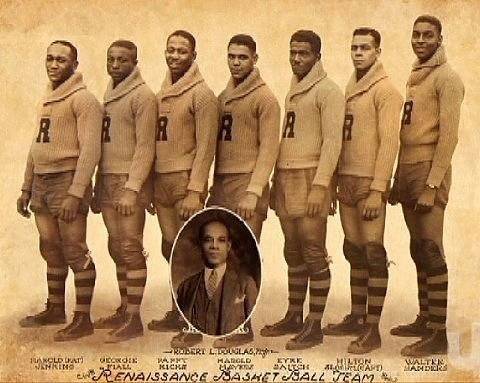 """The first Black professional basketball team """"The Renaissance"""" organized in Harlem. They were known to their many fans and admirers as """"The Rens"""" and they've been called """"the greatest basketball team you never heard of."""""""