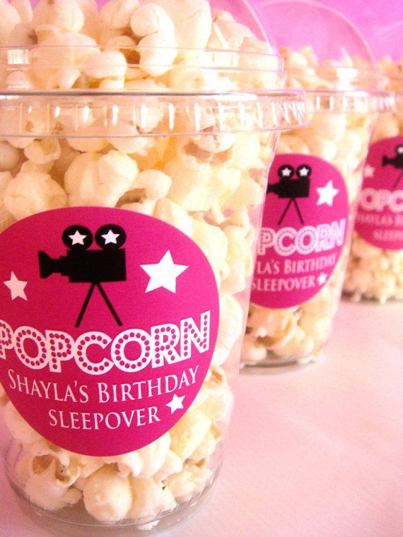 Popcorn Boxes Movie Night Sleepover Birthday by PoshBoxCouture, $15.00