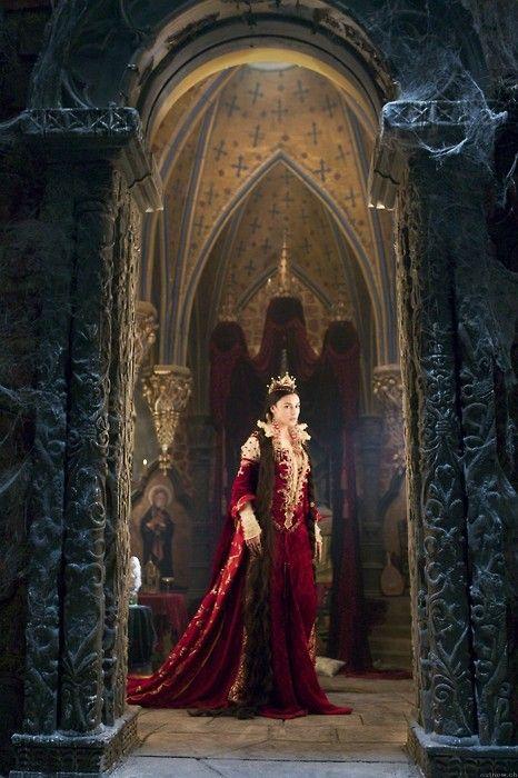 """Monica Bellucci in """"The Brothers Grimm.""""  Costume by Gabriella Pescucci."""