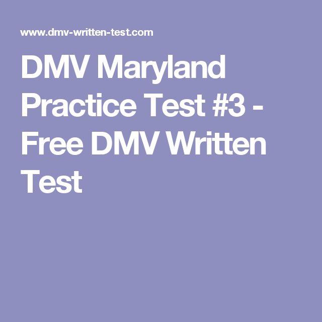 DMV Maryland Practice Test #3 - Free DMV Written Test