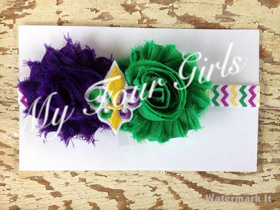 Mardi Gras Headband Girls Headband Toddler by MyFourGirlsGifts
