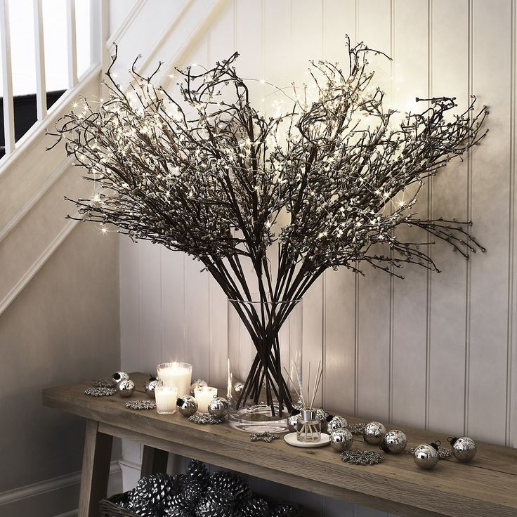 Sparkle Bud Branch | Christmas Room Decorations | Christmas Decorations | Christmas | The White Company UK