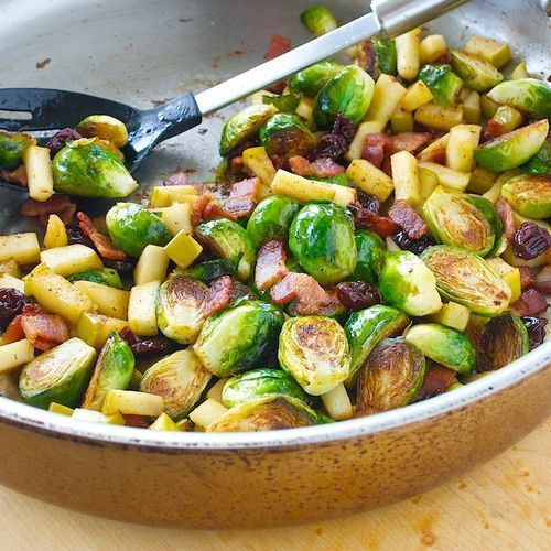 Brussel Sprouts with Bacon and Apples