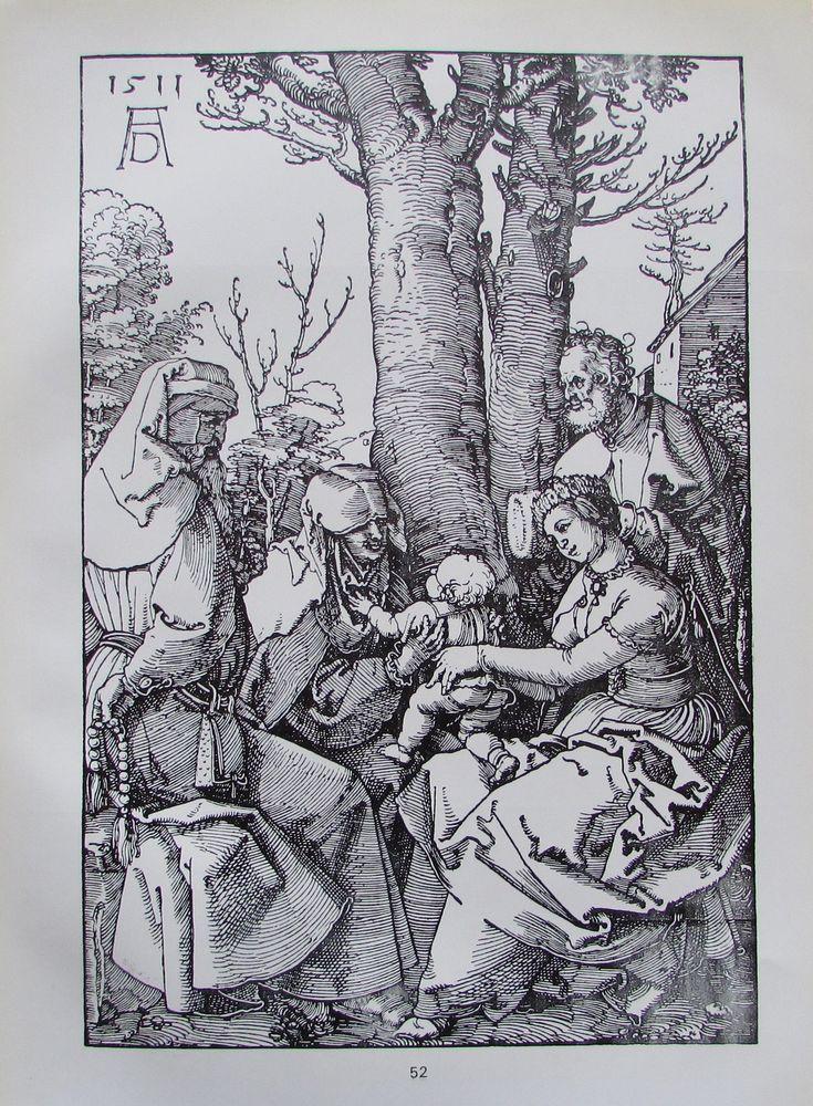 ALBRECHT DÜRER Heilige Familie und Zwei Apostelköpfe 2 Reproduktionen Kunstdrucke