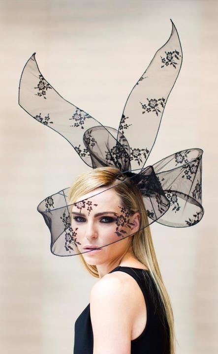 If I am ever invited to a royal event, I want to wear this amazing hat by Mark T Burke Millinery.