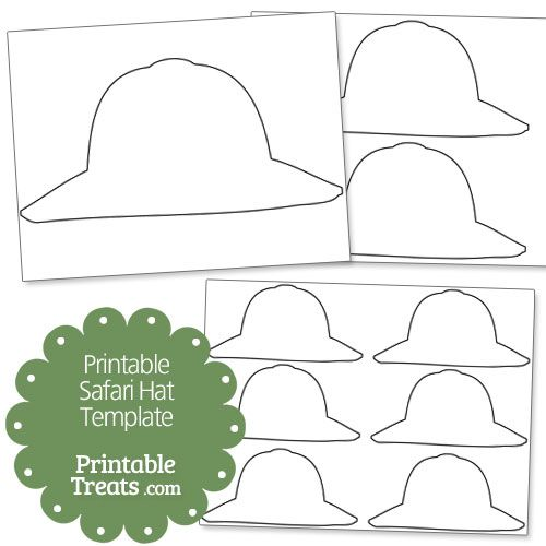 Printable Safari Hat Template - Printable Treats