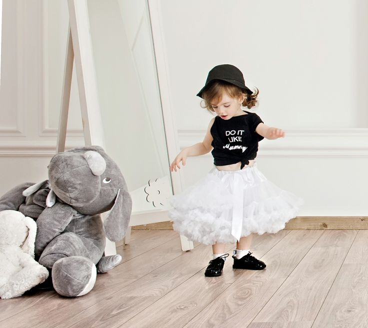 'Do it like mummy' t-shirt in black and white tutu for little fashionistas #Minisize #SS14 #Spring #Summer  Tutu: http://www.minisize-sissychristidou.gr/el/girls/leuki-tutu.html T-shirt: http://www.minisize-sissychristidou.gr/el/girls/tshirt-do-it-like-mummy-black.html