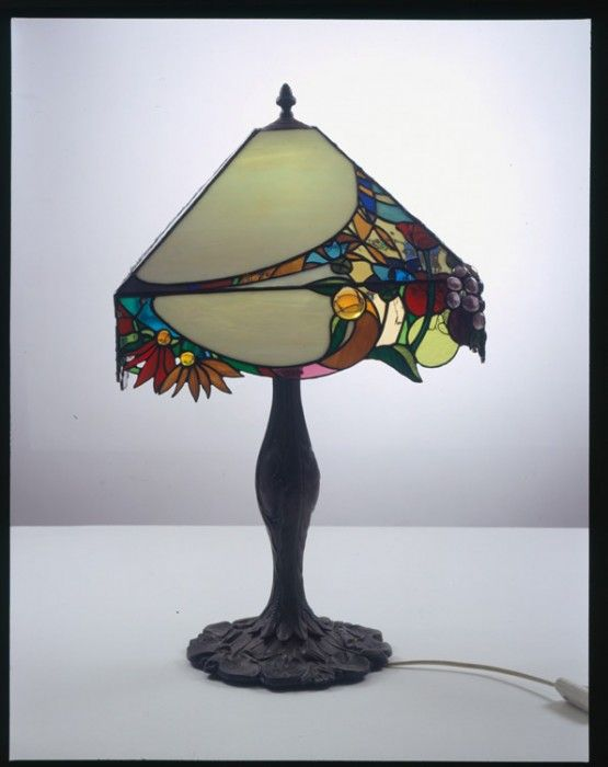 Four season lamp summer find this pin and more on stained glass lampshades