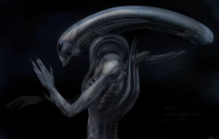 The Ultramorph.  Image: conceptual artwork by creature designer Carlos Huante (Men In Black, Blade: Trinity, Hellboy) for Ridley Scott's Prometheus (2012).  Check his website for more art: www.carloshuanteart.com