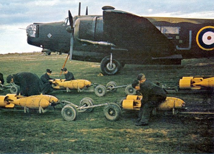 The Type A-2 roundel is one of hardest to find roundel types used during the Second World War. Finding colour photos of it in use was difficult. Here, an RAF Vickers Wellington bombs up somewhere in England early in the war, wearing a perfect example of the Type A-2 roundel. Photo via Etienne du Plessis' Flickr site