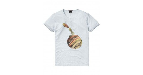 T-shirt λαιμόκοψη Scotch & Soda. Σύνθεση 100% cotton.