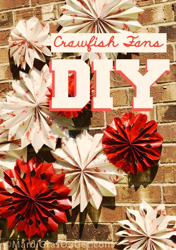 crawfish boil party decorations ideas paper fan tutorial photobooth