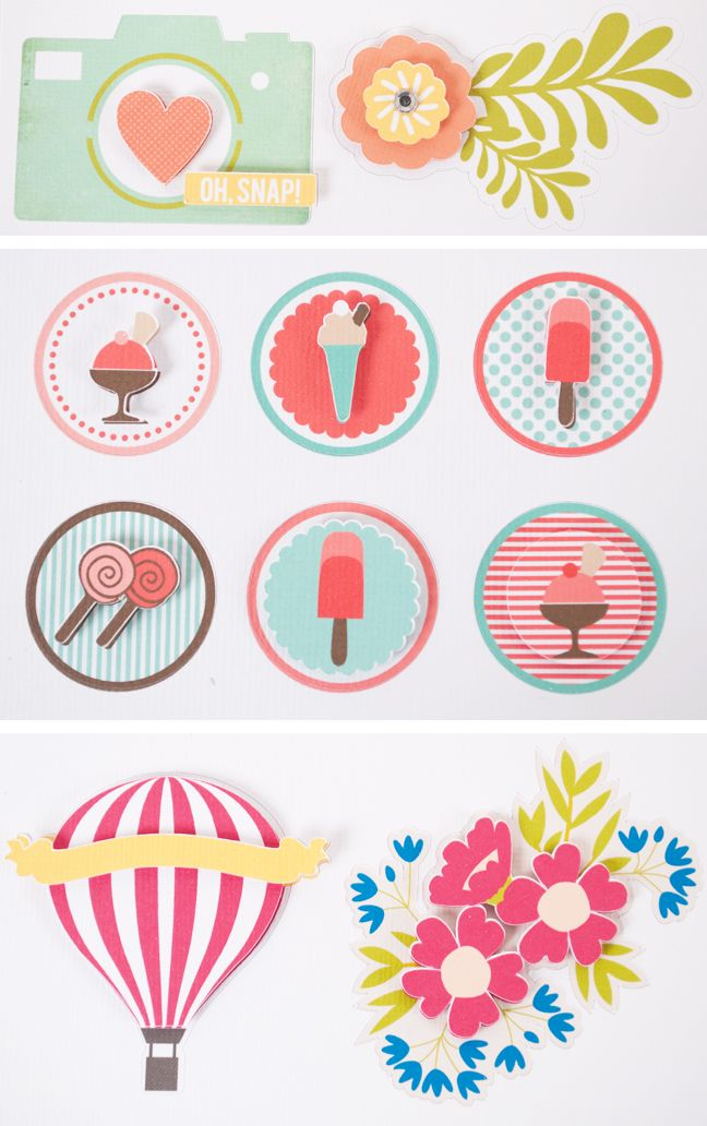This pin will lead you to watch a video on how to create these pop sticker effect.