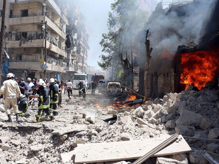 Syria War: Air strikes near Aleppo hospital kill at least 15 ...