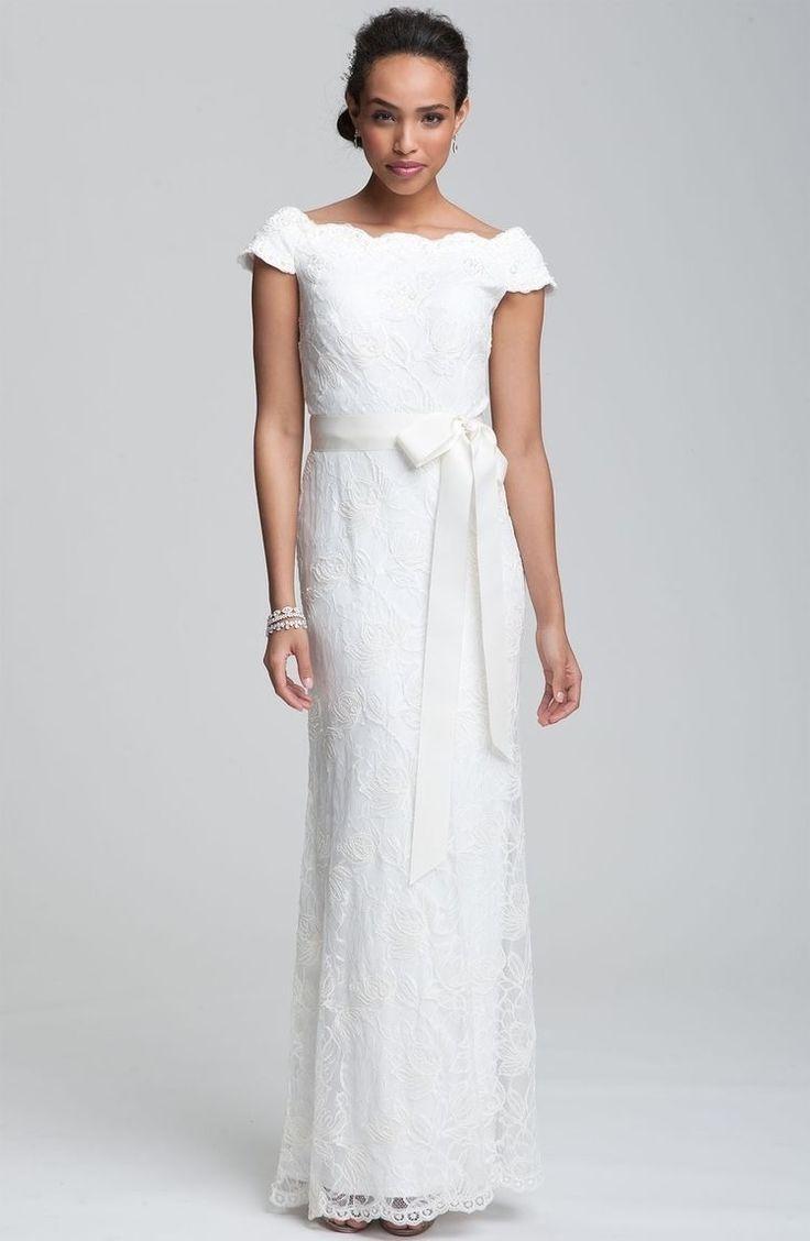 The 25 best tadashi shoji wedding dresses ideas on pinterest lace scalloped wedding gown wedding dress tadashi shoji wedding dressesrecycled bridegown junglespirit Gallery