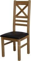 Deluxe Rustic Oak Cross Back Dining Chair