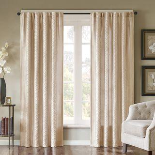 Madison Park Scarlett Diamond Pintuck Window Panel   Overstock.com Shopping - The Best Deals on Curtains