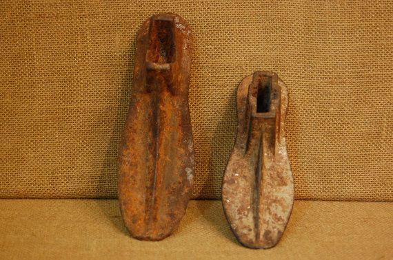 Vintage Pair Shoe Cobbler Iron Shoe Forms by PickersWarehouse
