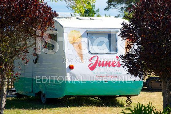 June's Real Fruit Ice Cream Caravan royalty-free stock photo