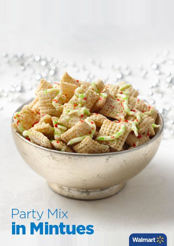 Family Size Rice Chex | Walmart - What's sweet, crunchy, gluten free, and the perfect Christmas snack? Sugar Cookie Chex Party Mix made with Rice Chex Cereal. Get holiday recipes and more at Walmart.com.