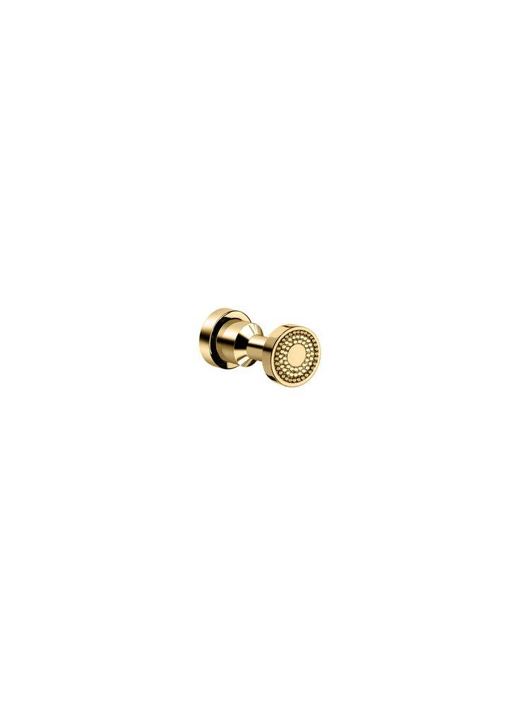 Shinelight Brass Robe Hook W/ Swarovski Crystals - Chrome/ Gold