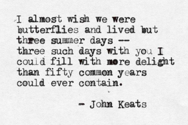 - John Keats