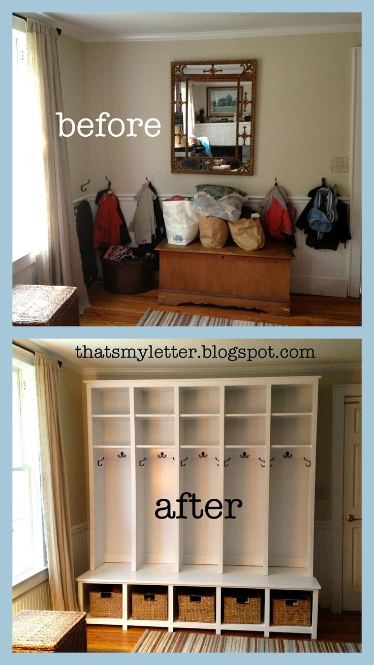I dream about having a MUDROOM! A beautiful... gorgeous... HGTV/House Beautiful mudroom. I can't tell you how many times I've trip over football/hockey equipment, shoes/sneakers and coats that ar...