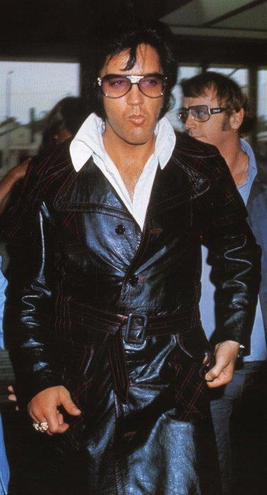 May 11, 1974  - Elvis Presley  just being cooler than everyone that ever lived. Los Angeles, California