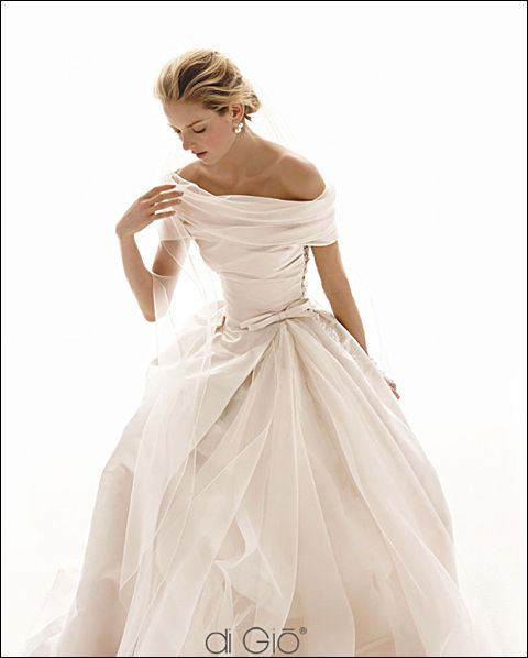 elegant, gorgeous dress and perfect hair with this look (Di Gio)