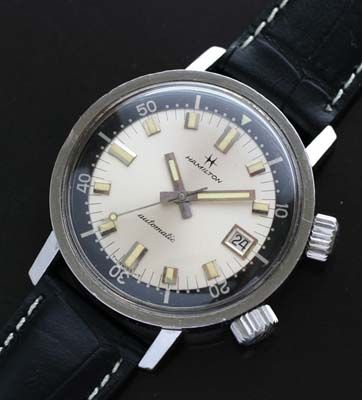 1966 Hamilton Super-Compressor Dive Watch. This is number two on my wish-list. Isn't she a beaut?