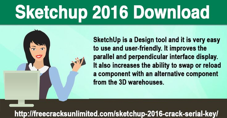 "Now download SketchUp 2016 Crack and extract it. Run Patch.exe in the crack folder as an administrator. Now locate and choose SketchUp, LayOut and Style Builder ""Files"" which is present in SketchUp 2016 installation directory.  After Patching, Run the SketchUp 2016 application. Done! Enjoy SketchUp 2016 cracked."