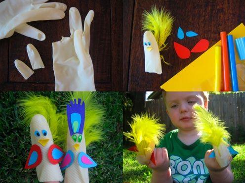 Simpáticas marionetas de dedos para los más pequeños