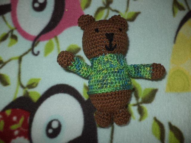 crocheted little bear
