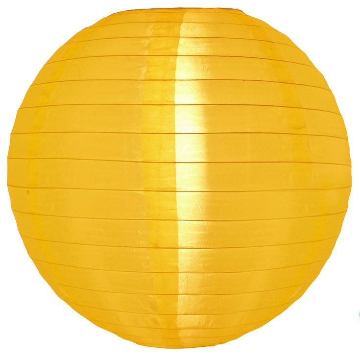 12 Inch Yellow Nylon Lanterns outdoor £3.29