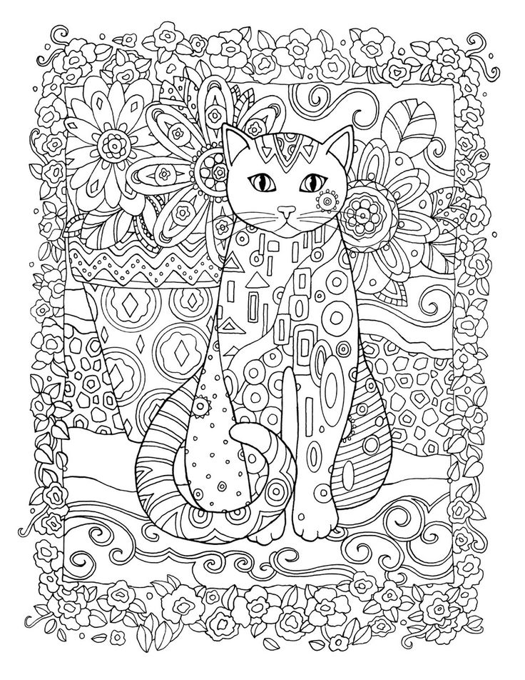 Creative Cats Colouring Book Bloomer Cat By Marjorie Sarnat