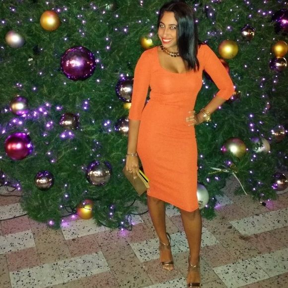 Shop Women's silence + noise Orange size XS Midi at a discounted price at Poshmark. Description: Beautiful Burnt Orange Midi Form Fitting Dress perfect for any occasion.. Sold by aguzman731. Fast delivery, full service customer support.