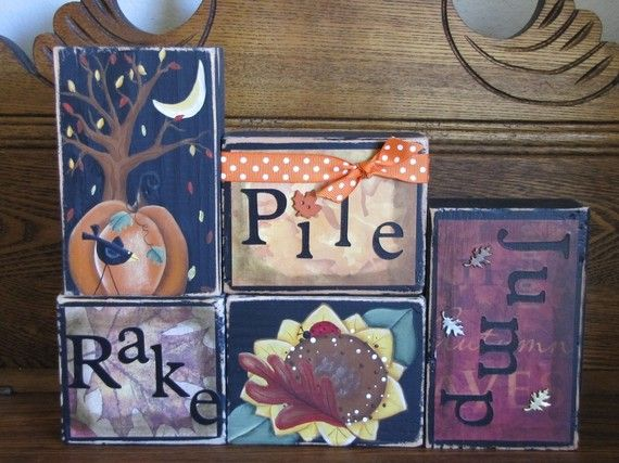 Rake Pile Jump Fal Decor Sign by PunkinSeedProduction on Etsy, $35.00