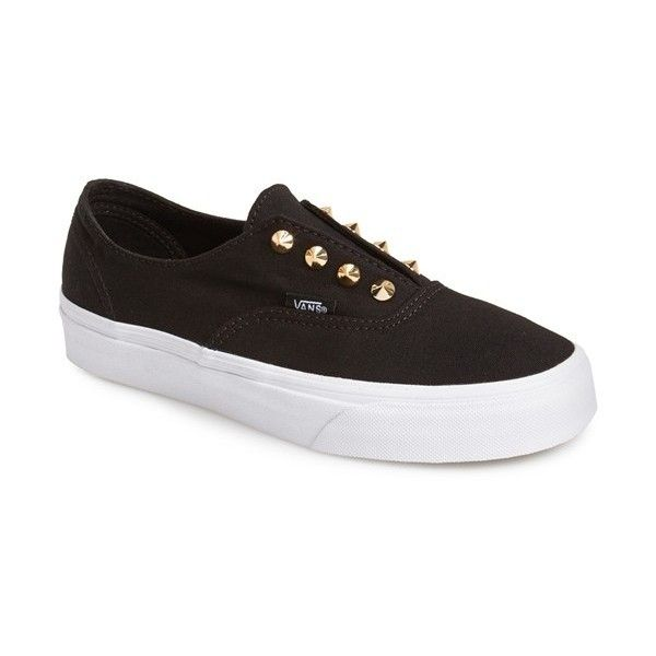 Women's Vans 'Authentic Gore - Studs' Slip-On Sneaker ($47) ❤ liked on Polyvore featuring shoes, sneakers, vans, slip on shoes, vans shoes, vans sneakers, slip-on sneakers and slip-on shoes