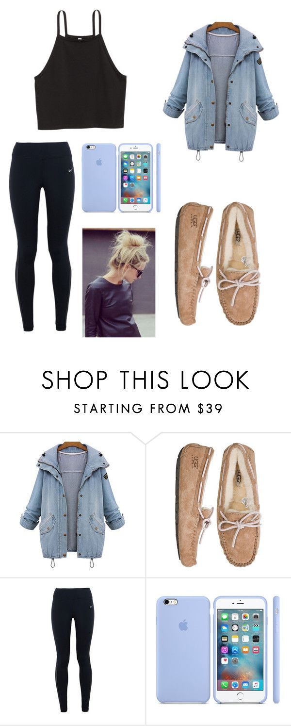 """""""When you gotta run out for food🌨"""" by kylieirwin11 ❤ liked on Polyvore featuring UGG Australia and NIKE"""